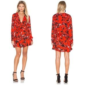 Karina Grimaldi x Revolve Red Floral Pilar Dress